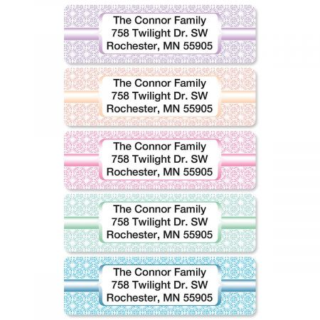 Shabby Chic Rolled Return Address Labels  (5 Designs)