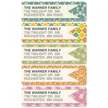 Blossom Banner Rolled Return Address Labels  (5 Designs)