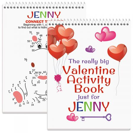 Really Big Personalized Valentine Activity Book-Girl-612011A
