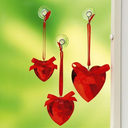 Acrylic Heart Suncatchers