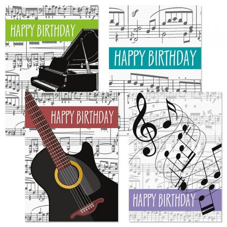 Music Theme Birthday Cards