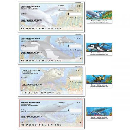 Under the Sea Single Checks with Matching Address Labels