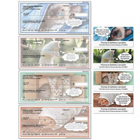 Cattitudes Single Checks with Matching Address Labels