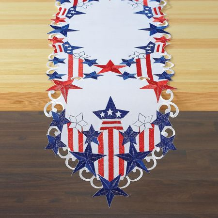 Patriotic Diecut Table Runner