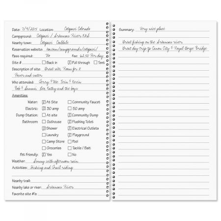 Campsite Personalized Daily Journal