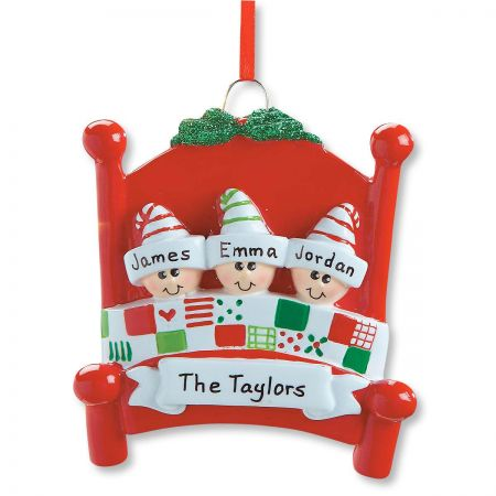 Bed Heads Personalized Christmas Ornaments