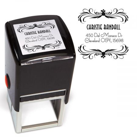 Deco Square Address Stamp