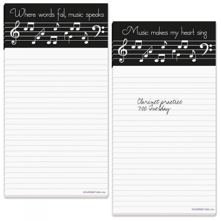 Making Music Magnetic Lined Notepads