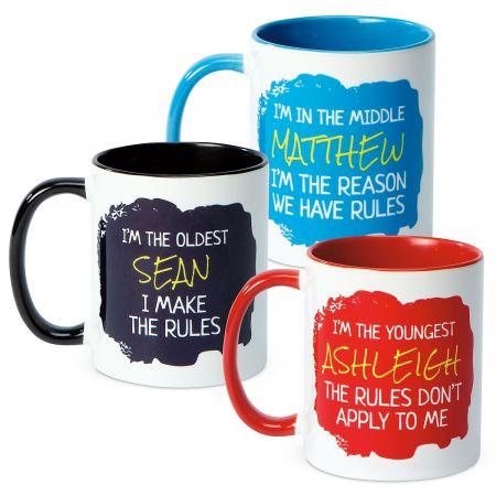 Rules Personalized Novelty Mug
