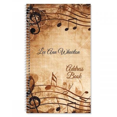 Sheet Music Personalized Lifetime Address Book