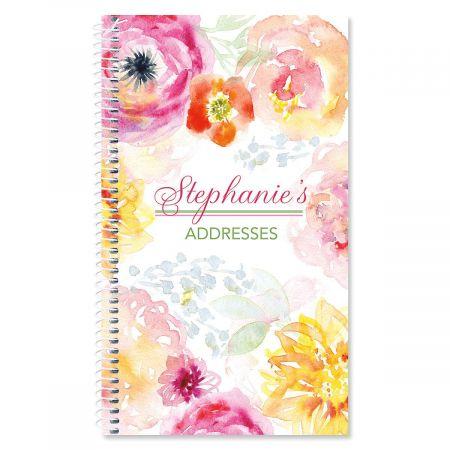 Pretty Posy Personalized Lifetime Address Book