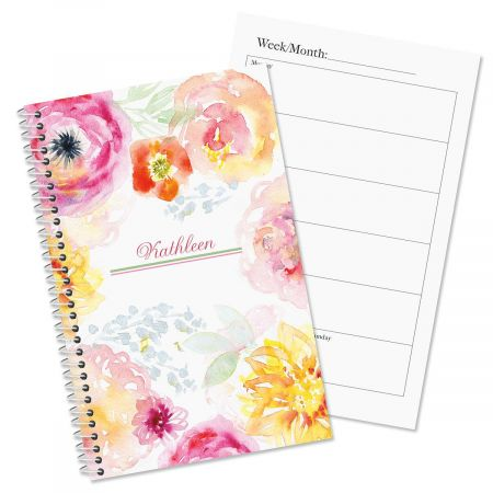 Pretty Posy Personalized Planner