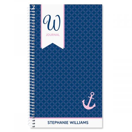 Ribbon Initial Personalized Daily Journal