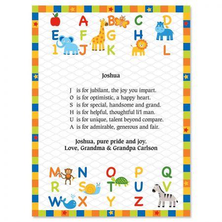 Alphabet Name Poem Print