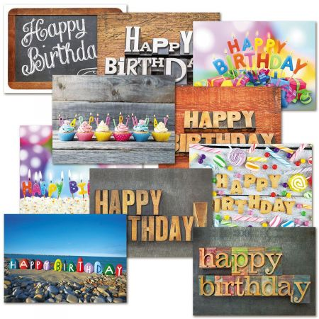 Birthday Cards Value Pack - Playful Type