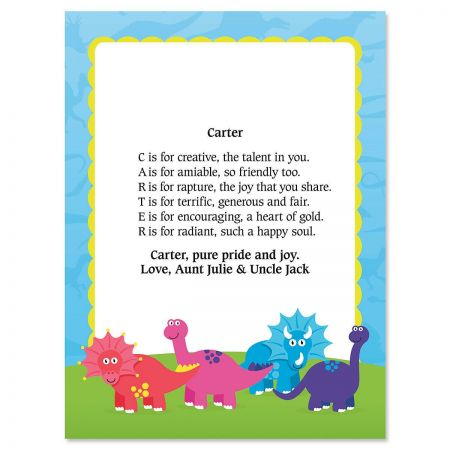 Dinosaur Name Poem Print