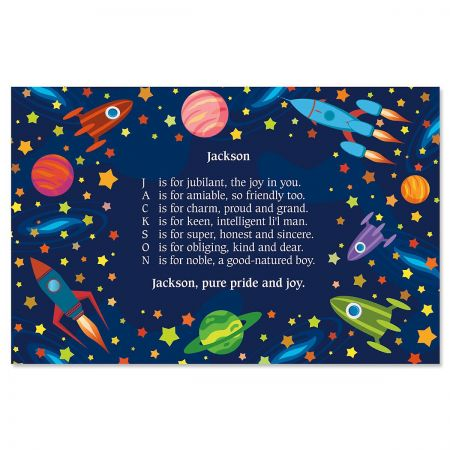 Space Name Poem Placemat