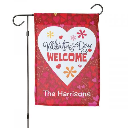 Valentine Personalized Garden Flag