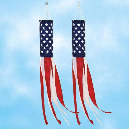 Stars and Stripes Windsock - Buy 1 Get 1 FREE