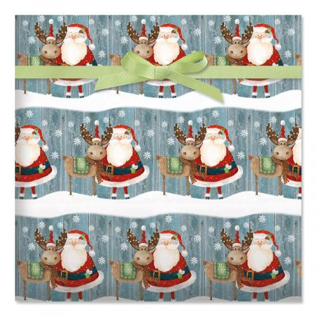 Christmas Chums Holiday Jumbo Rolled Gift Wrap
