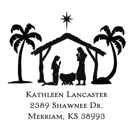 Nativity Self-Inking Square Stamp