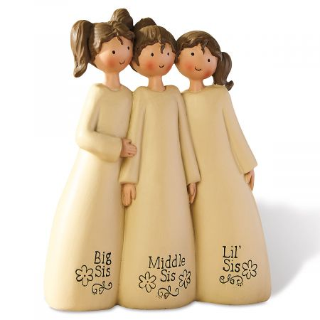 Three Sisters Figurine Colorful Images