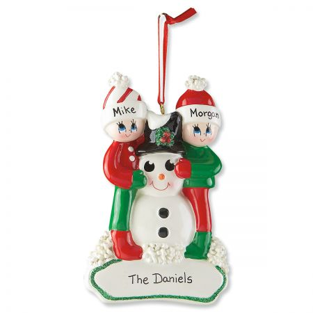 Custom Snowman Gang Ornament