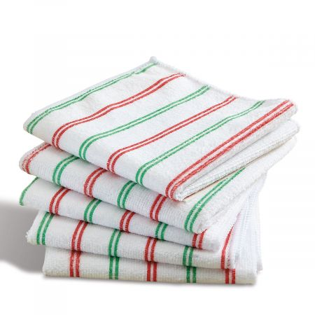 Christmas Stripes Microfiber Cloths
