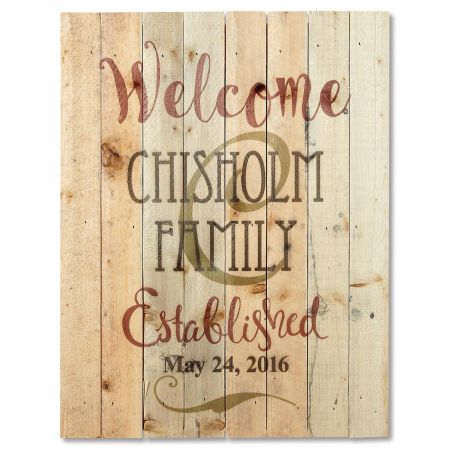 Personalized Established Lath Wood Sign