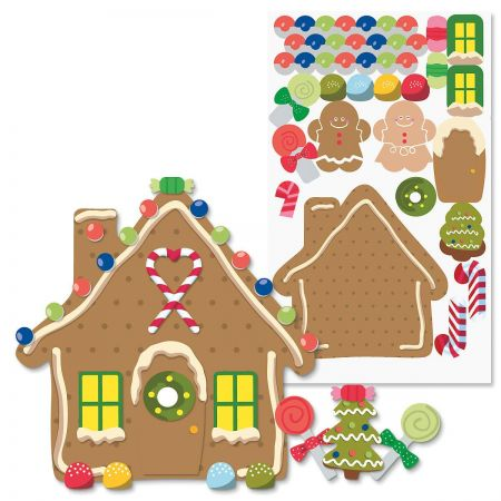 Build-Your-Own Gingerbread House Stickers