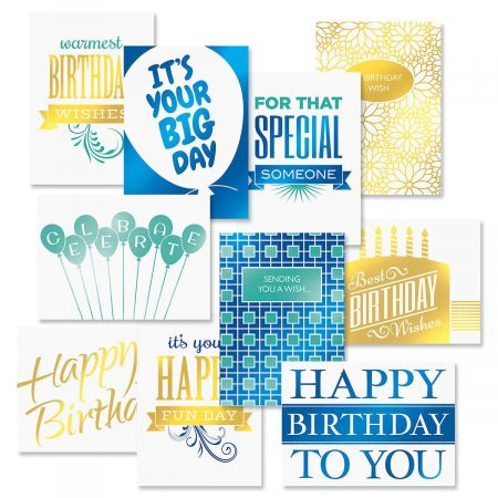 Deluxe Birthday Greeting Cards Value Pack