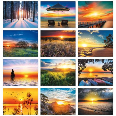 2018 Sunsets Wall Calendar