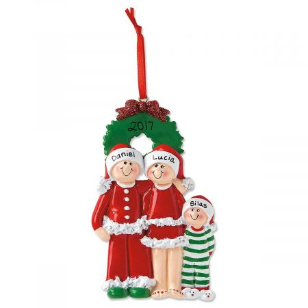 PJ Family Personalized Christmas Ornaments