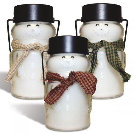 Scented Snowman Jar Candles