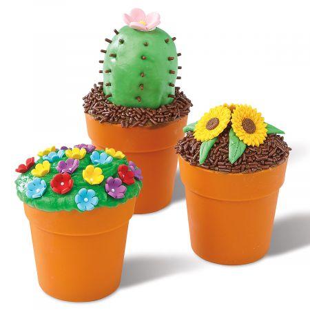 Flowerpot Cupcake Cup Molds