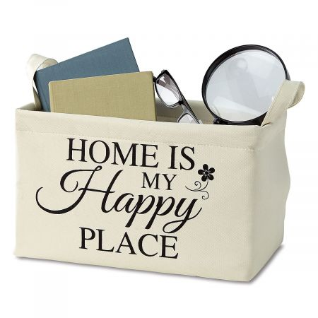 Happy Place Canvas Tote