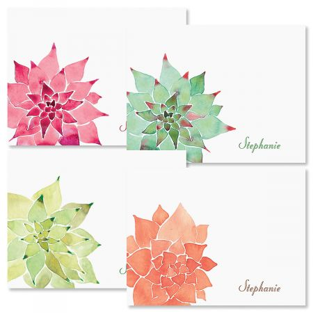 Personalized Cactus Note Cards