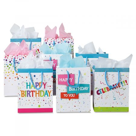 Birthday Confetti Gift Bags