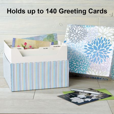 Cool Floral Organizer Box and Refills for Greeting Cards
