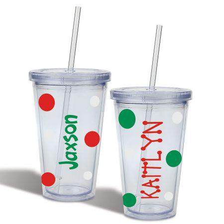Custom Christmas Acrylic Beverage Cups