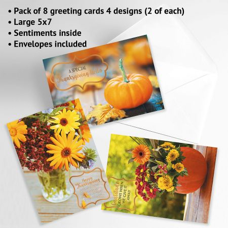 Deluxe Florals Thanksgiving Cards