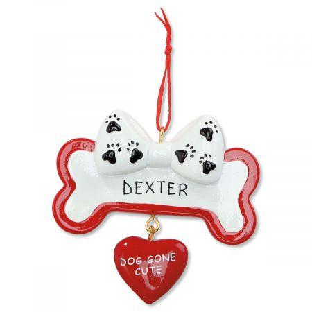 Bone & Heart Personalized Christmas Ornament