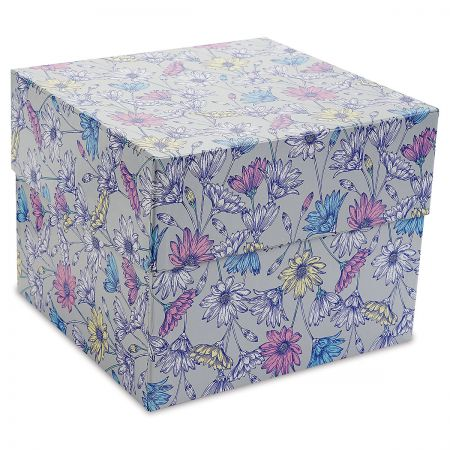 Greeting Card Organizer Box and Labels Daisies