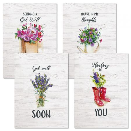 Bouquets Get Well Greeting Cards
