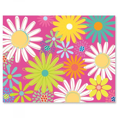 Pink Daisy Note Cards - Buy 1 Get 1 Free