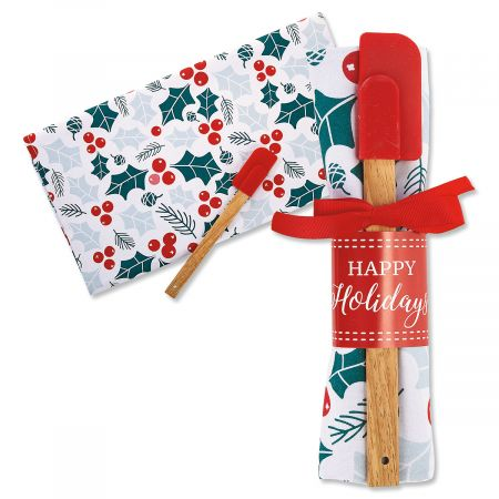 Holiday Towel & Spatula Set