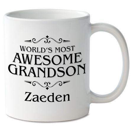 World's Most Awesome Grandson Novelty Mug