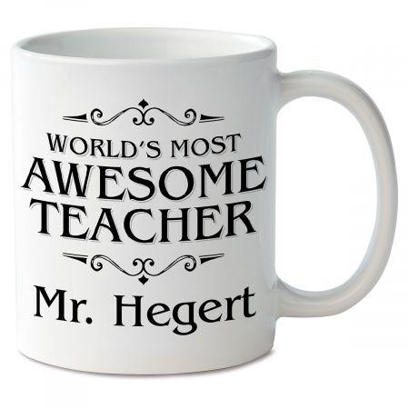 World's Most Awesome Teacher Novelty Mug