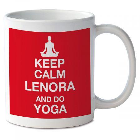 Keep Calm and Do Yoga Novelty Mug