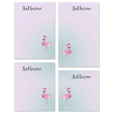 Single Flamingo Custom Memo Pad Sets